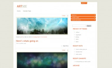 WordPress Artsee Theme